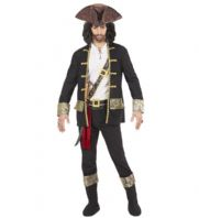 Pirate Captain Black Costume (15274)